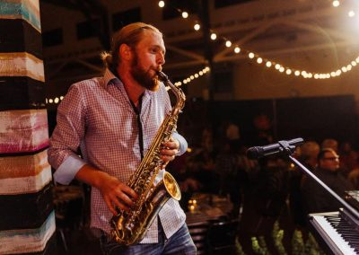 Saxophonist Playing on Stage