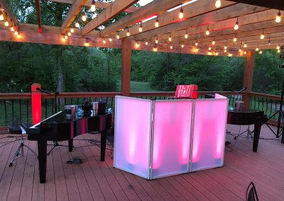 Outdoor DJ Booth with Piano