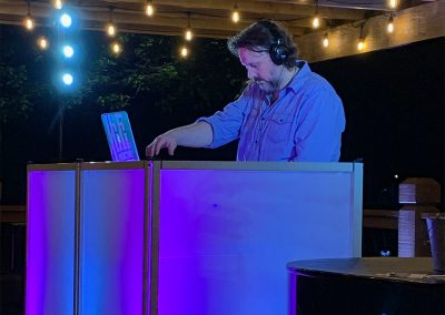 Wedding DJ Under Blue Lighting